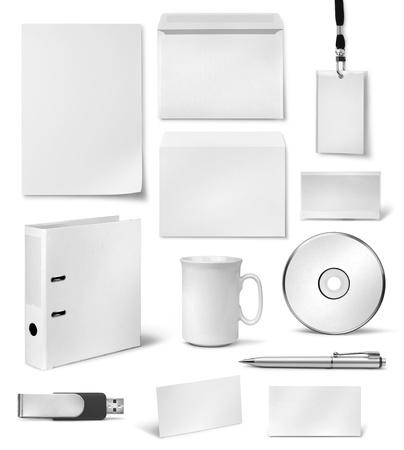 carta identit�: Brand identity Modelli in bianco design realistico aziendali visive Archivio Fotografico