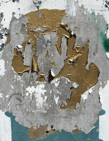 Peeling paint on galvanised metal rough grunge background Stock Photo - 21261097