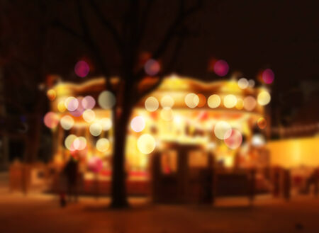 carrousel: Carrousel moving lights colorful bokeh