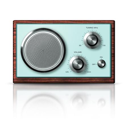 caoba: Estilo retro moderno port�til de radio de la vendimia el ajuste de caoba frente