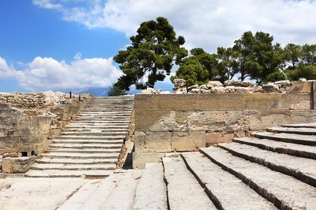 minoan: Ancient Festos Minoan palace archaeological site Crete Greece Editorial