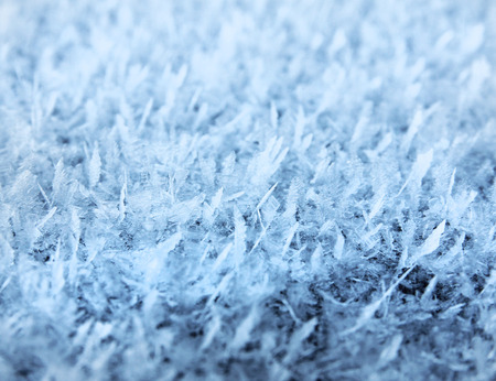 Natural frost close-up snow ice crystals background Stock Photo