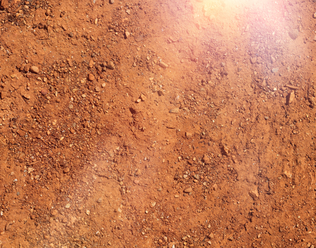 Hot and dry agricultural terrain brown soil detail natural background