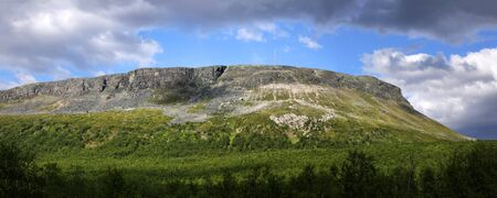 Panoramic view of Saanatunturi fell in Kilpisjarvi, Finnish Lapland