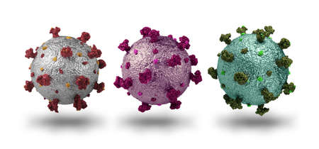 Photorealistic model of  mutations isolated on white background, pandemic epidemic concept