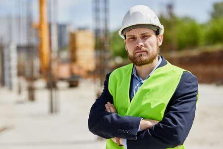 An engineer in uniform looks at the camera. Standard-Bild