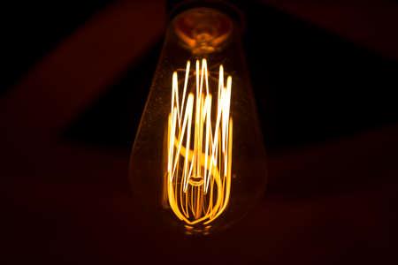 Electric Edison lamp close up
