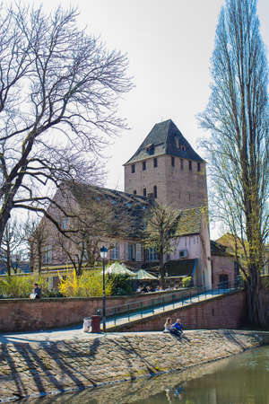 Strasbourg tour of little France in the spring Stock Photo
