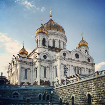gold: Gold dome temple in moscow