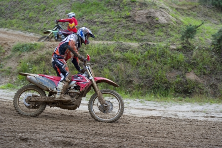 Motocross country training - 2 pilotes - France  Stock Photo - 15461148