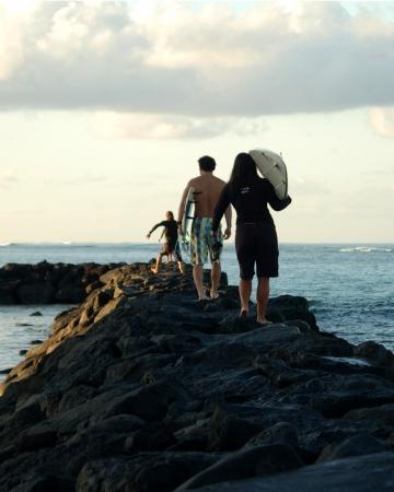 Morning Surfing I  hawaii