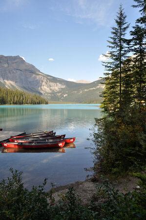 Emerald Lake, Canada Editorial