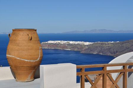 greek pottery: Santorini, Greece