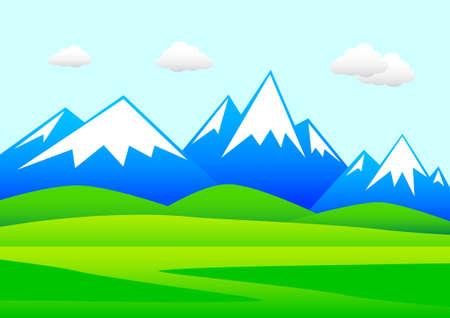 Blue mountains  Illustration