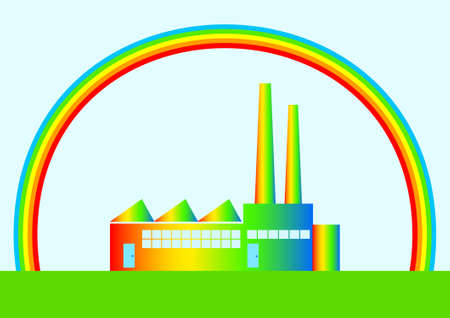Eco factory  Vector