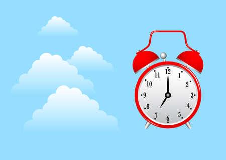 alarmclock: Alarm-clock on blue sky