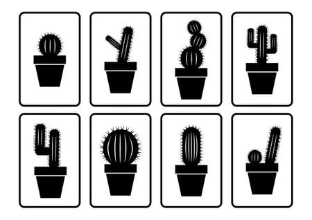 Cactus collection  Vector