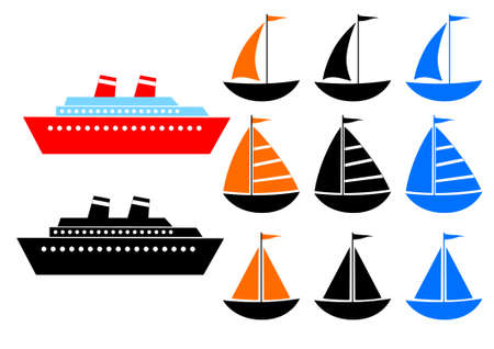 Collection of ship Vector