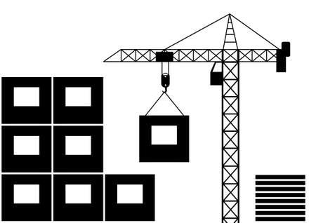 Icon of crane Stock Vector - 11194681