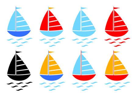 Sailboat collection  Vector