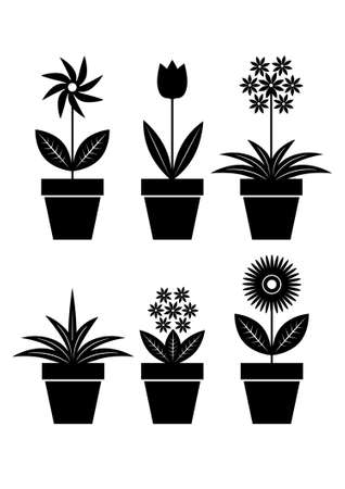 Icons of flowers Vector