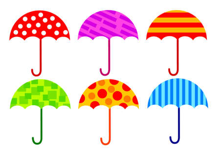 Collection of umbrellas  Illustration