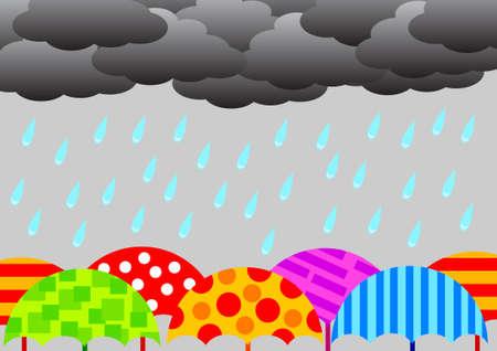 rainy: Rainy weather         Illustration