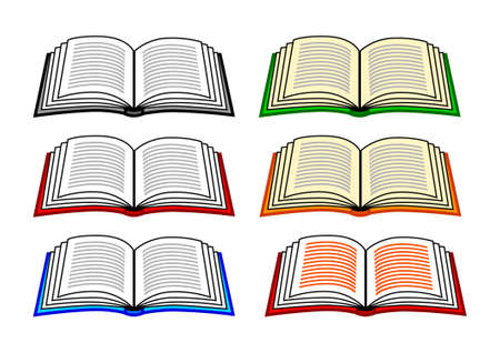 Collection of books  Illustration