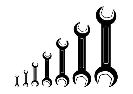 Collection of spanners Stock Vector - 11485861