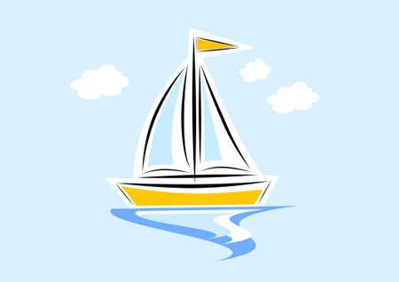 Clip-art of sailboat Illustration