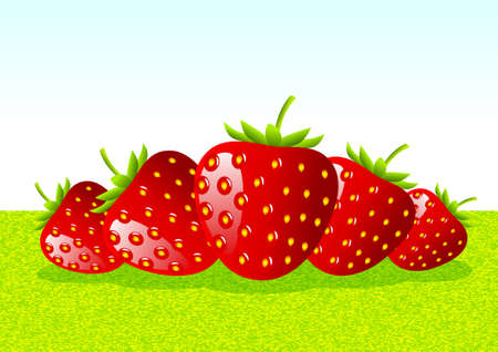 Red strawberries Stock Vector - 11485888