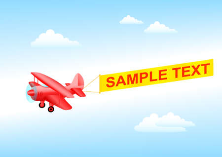 Red plane Vector