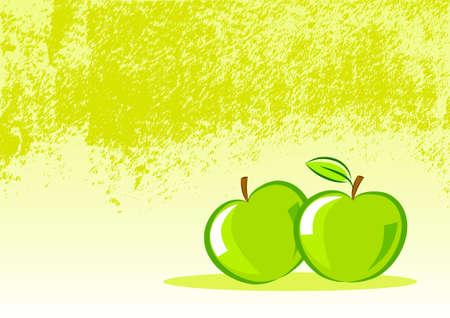 Hintergrund mit Äpfeln