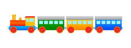 Wooden train Stock Vector - 11782983