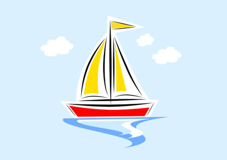 Clip-art van de zeilboot