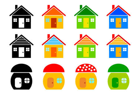 Collection of houses Stock Vector - 11864160