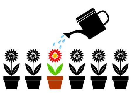 plants growing: Sagome di fiori Vettoriali