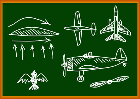 Drawing of aircraft      Vector