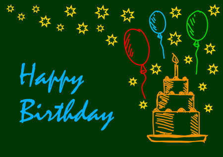 Background with cake Vector