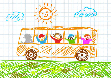 Drawing of bus      Vector