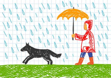 Rainy weather Stock Vector - 11944465