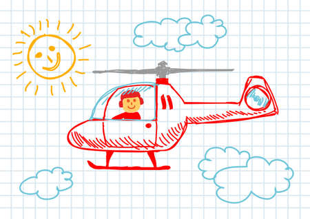 Drawing of helicopter        Vector