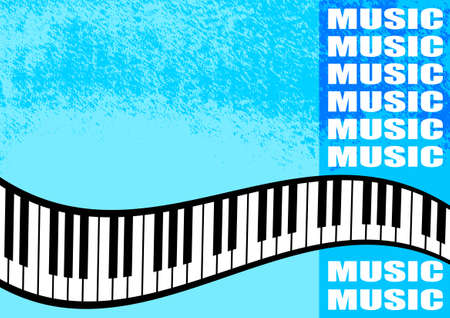 Musical blue background      Vector