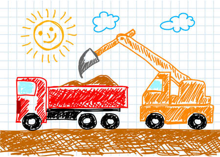 lift trucks: Drawing of truck     Illustration
