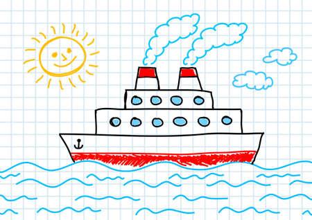 Drawing of ship