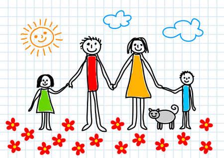 mum and daughter: Disegno di famiglia Vettoriali