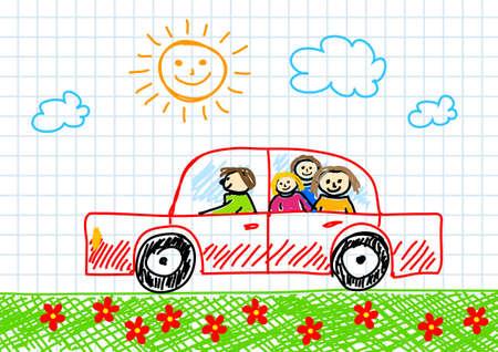 Dibujo del coche rojo