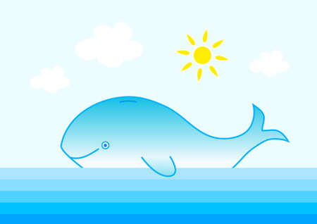 Blue whale Stock Vector - 12018664