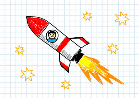 Red rocket Stock Vector - 12018665
