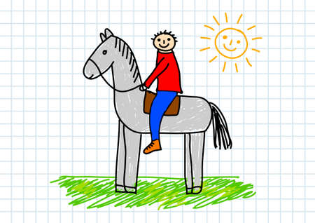 Drawing of horse      Vector
